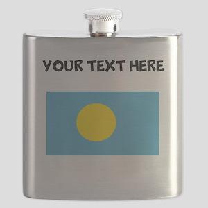 Custom Palau Flag Flask