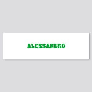Alessandro Name Weathered Green Des Bumper Sticker