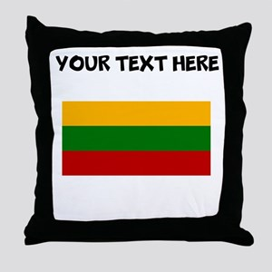 Custom Lithuania Flag Throw Pillow