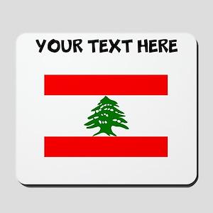 Custom Lebanon Flag Mousepad