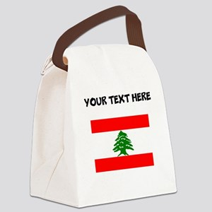 Custom Lebanon Flag Canvas Lunch Bag