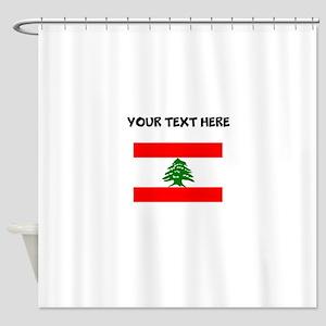 Custom Lebanon Flag Shower Curtain
