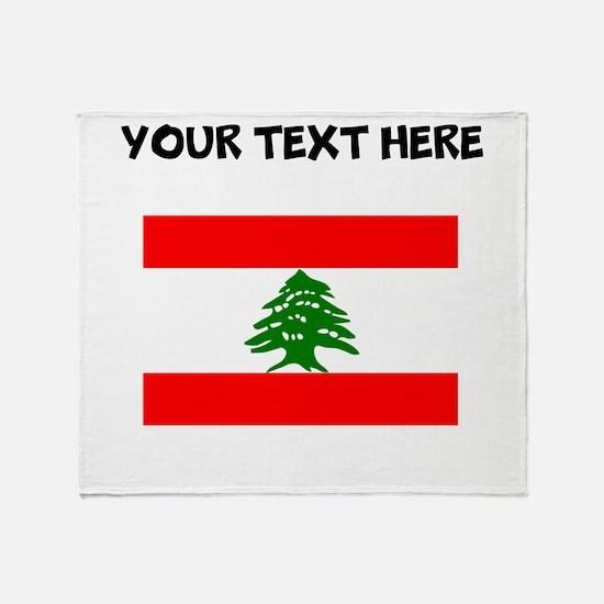 Custom Lebanon Flag Throw Blanket