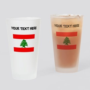 Custom Lebanon Flag Drinking Glass