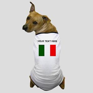 Custom Italy Flag Dog T-Shirt