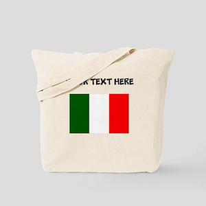 Custom Italy Flag Tote Bag