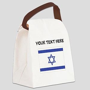 Custom Israel Flag Canvas Lunch Bag