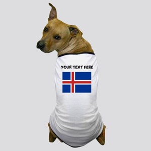 Custom Iceland Flag Dog T-Shirt