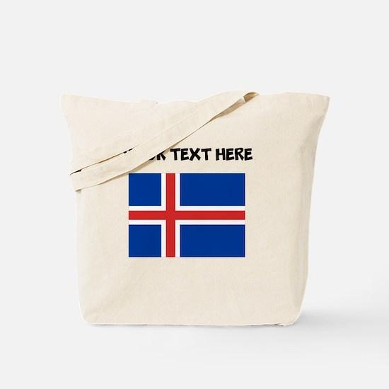 Custom Iceland Flag Tote Bag