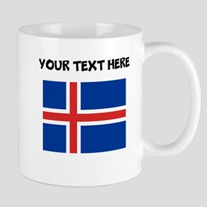 Custom Iceland Flag Mugs
