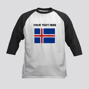 Custom Iceland Flag Baseball Jersey