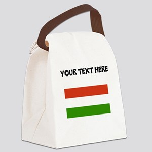 Custom Hungary Flag Canvas Lunch Bag