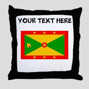 Custom Grenada Flag Throw Pillow