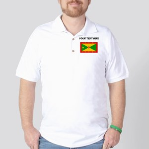 Custom Grenada Flag Golf Shirt