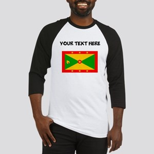 Custom Grenada Flag Baseball Jersey