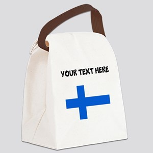 Custom Finland Flag Canvas Lunch Bag