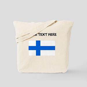 Custom Finland Flag Tote Bag