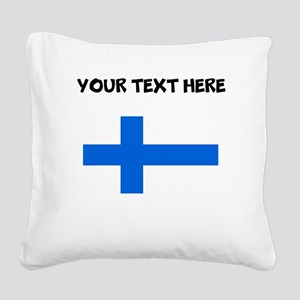 Custom Finland Flag Square Canvas Pillow