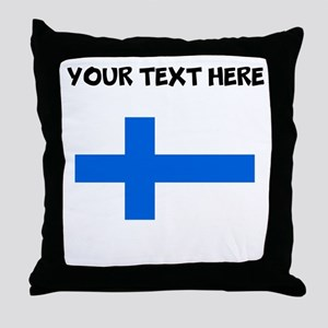 Custom Finland Flag Throw Pillow