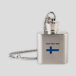 Custom Finland Flag Flask Necklace