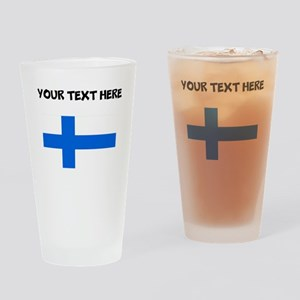 Custom Finland Flag Drinking Glass
