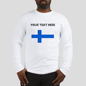 Custom Finland Flag Long Sleeve T-Shirt