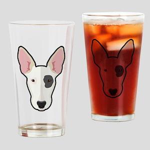 Cartoon Bull Terrier Drinking Glass