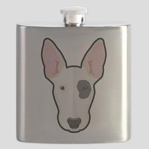 Cartoon Bull Terrier Flask