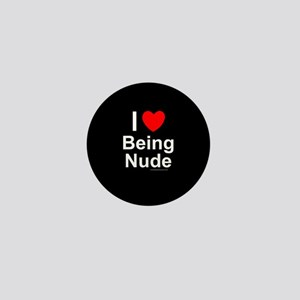 Being Nude Mini Button