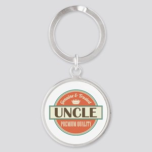 Uncle Fathers Day Round Keychain