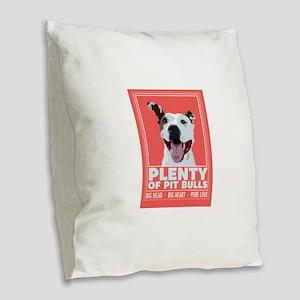 Logo Burlap Throw Pillow