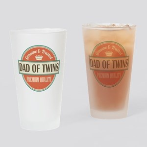 Dad Of Twins Drinking Glass