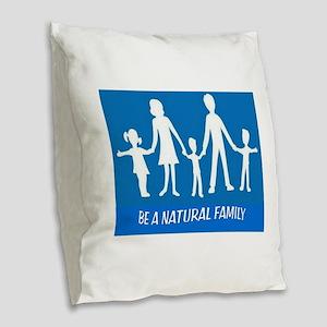 FAMILY FLAG Burlap Throw Pillow