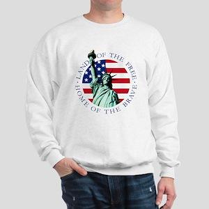 Statue of Liberty American flag Sweatshirt