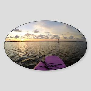 Paddle sunset Sticker