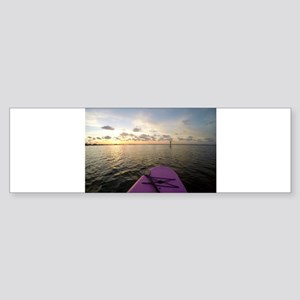 Paddle sunset Bumper Sticker