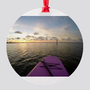 Paddle sunset Round Ornament
