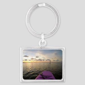 Paddle sunset Landscape Keychain