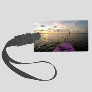 Paddle sunset Large Luggage Tag