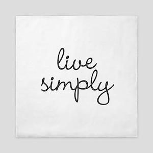 Live Simply Queen Duvet