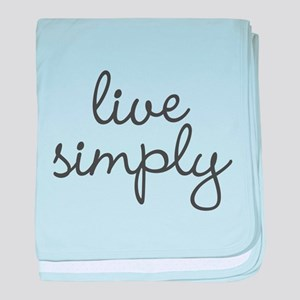 Live Simply baby blanket