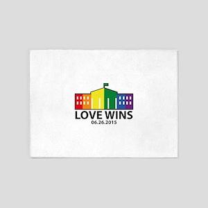 Love Wins 5'x7'Area Rug