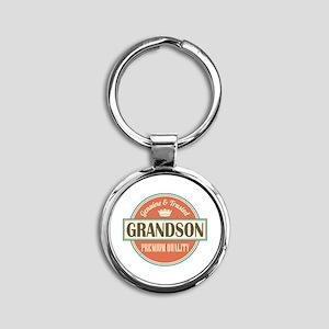 grandson Round Keychain