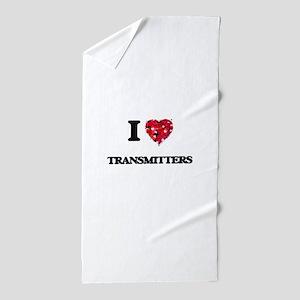I love Transmitters Beach Towel
