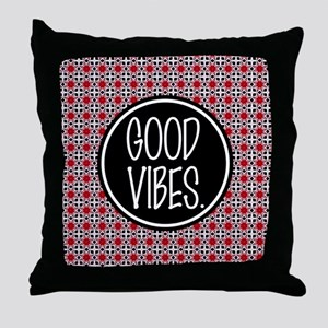 Good Vibes Expression Typography Throw Pillow
