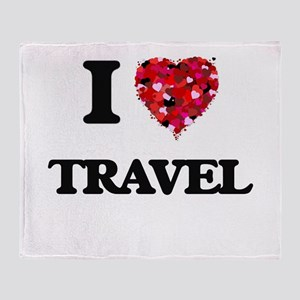I love Travel Throw Blanket