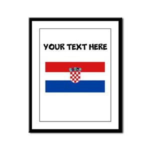Custom Croatia Flag Framed Panel Print