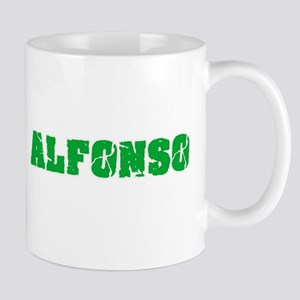 Alfonso Name Weathered Green Design Mugs