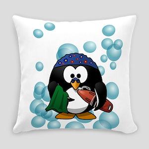 Swimmer Penguin Swimming Everyday Pillow