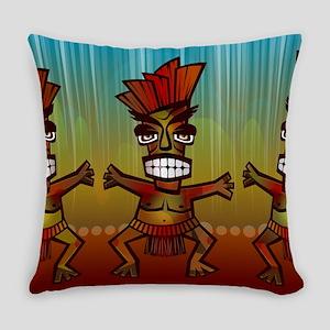 Tiki Men Everyday Pillow